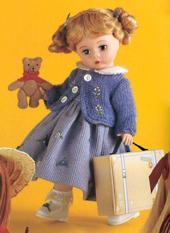 Doll Girl with Teddy Bear